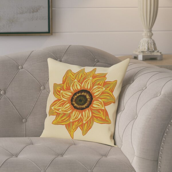Kindel Flower Print Throw Pillow by August Grove