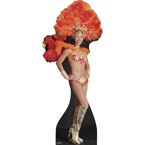 Party Vegas Show Girl Cardboard Standup by Advanced Graphics
