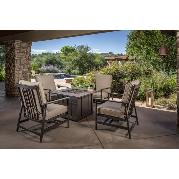 Hegeman 5 Piece Sunbrella Sofa Seating Group by Gracie Oaks