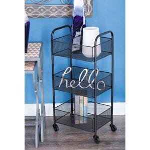 Metal Basket Bar Cart by Cole & Grey