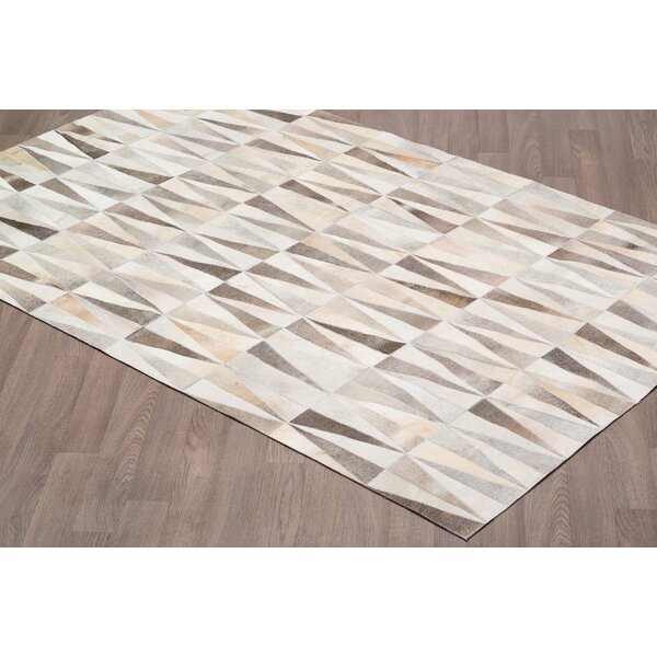 Channelle Hand Tufted Cowhide Natural Gray Area Rug by 17 Stories