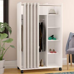 loke mobile curtain storage center armoire - Closet Wardrobe