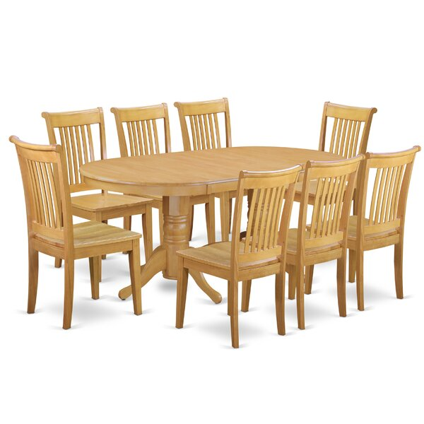 Daniella 9 Piece Extendable Solid Wood Dining Set by Alcott Hill