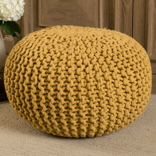 Best Deals Evangeline Pouf By Mistana