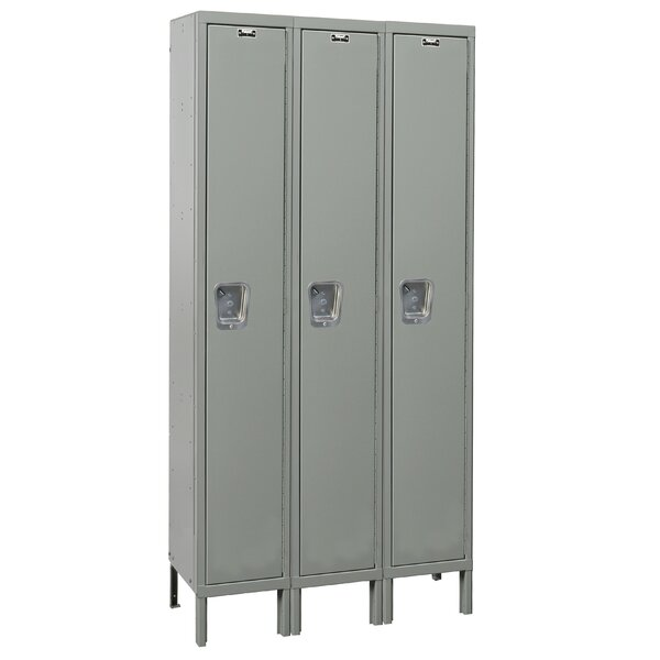 Maintenance-Free 1 Tier 3 Wide School Locker by Hallowell