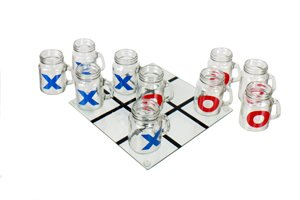 11 Piece Tic Tac Toe Game Beer Glass Set by DEI