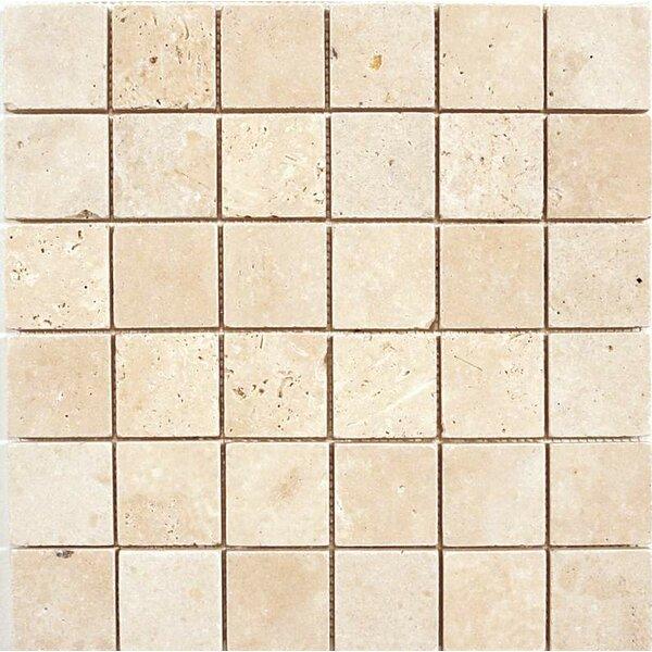 2 x 2 Mosaic Tile in Ivory by Ephesus Stones