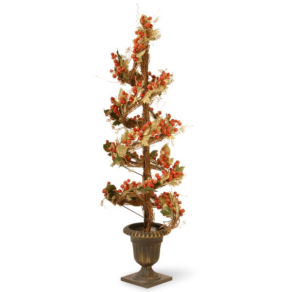 Berry and Leaf Vine Round Topiary Flowering Tree in Urn by National Tree Co.