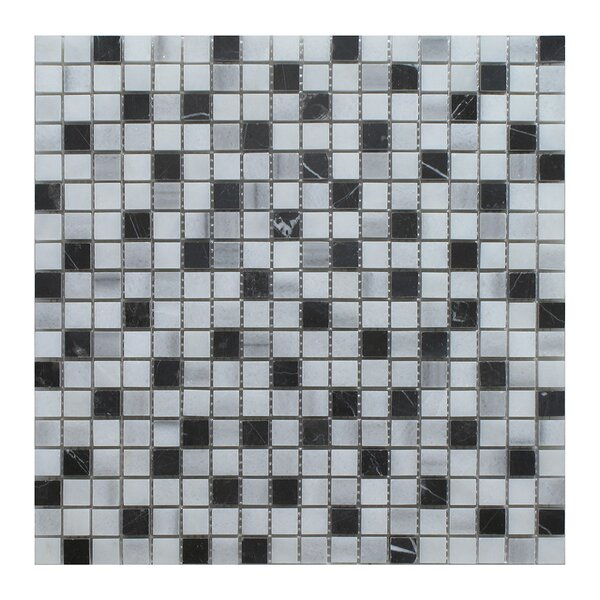 Equator 1 x 1 Marble Mosaic Tile in Gray by Seven Seas