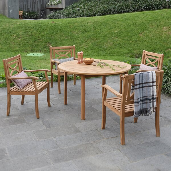 Brunswick 5 Piece Teak Dining Set by Birch Lane™