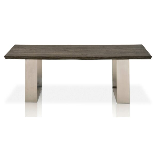 Maya Rustic Oak Wood Coffee Table by Foundry Select