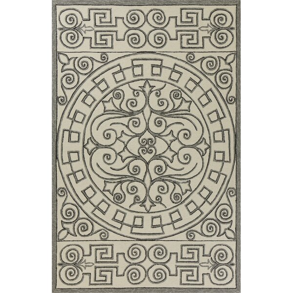 Edinburgh Hand-Woven Ivory/Gray Indoor/Outdoor Area Rug by Charlton Home