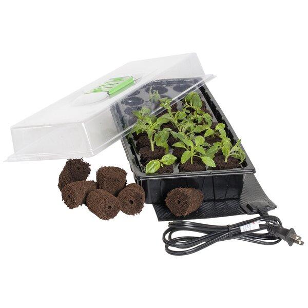 Jump Start 24 Grow Plug Mini Germination Station with Propagation Mat by Hydrofarm