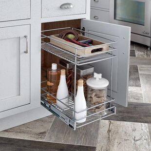 2 Tier Kitchen Cabinet Pull Out Basket