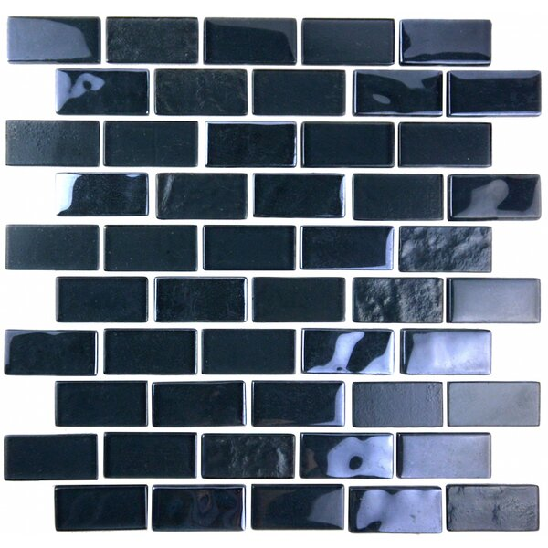 Landscape 1 x 2 Glass Mosaic Tile in Dark Gray by Abolos