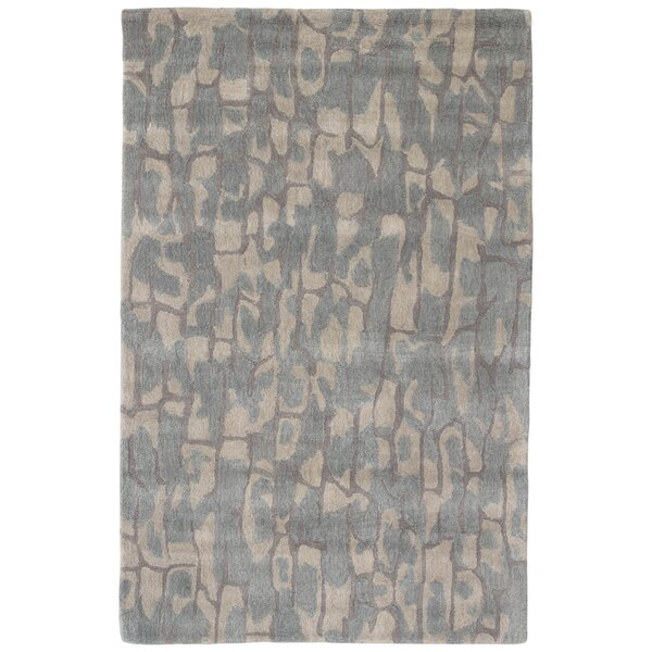 National Geographic Home Premium Wool Hand Tufted Blue Area Rug by National Geographic Home