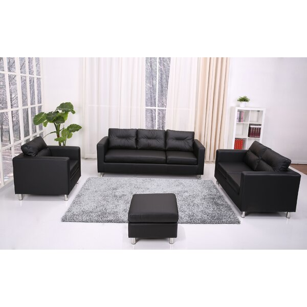 Clarence 4 Piece Living Room Set by Wade Logan