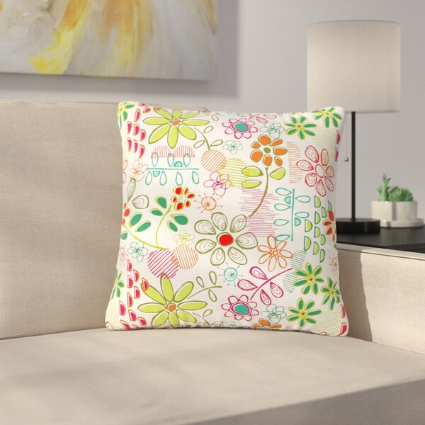 Holly Helgeson Wildflower Outdoor Throw Pillow by East Urban Home