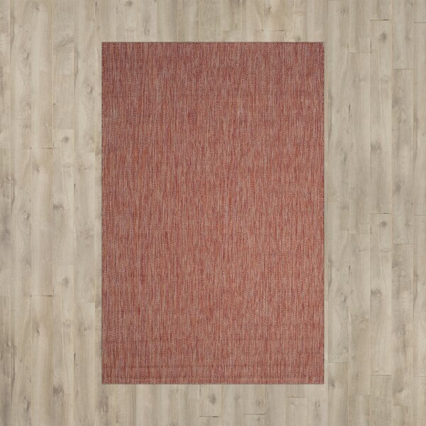 Brodie Red Indoor/Outdoor Area Rug by Langley Street
