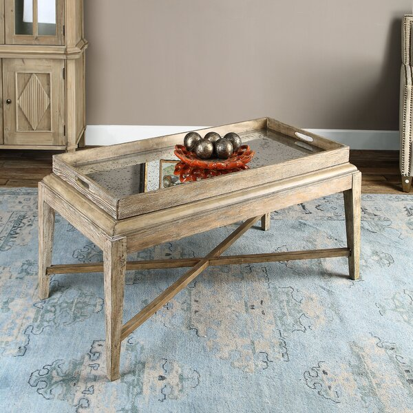 Woodhaven Coffee Table with Tray Top by Rosecliff Heights Rosecliff Heights