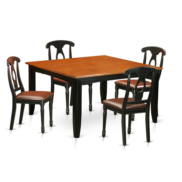 Pilning 5 Piece Wood Dining Set by August Grove