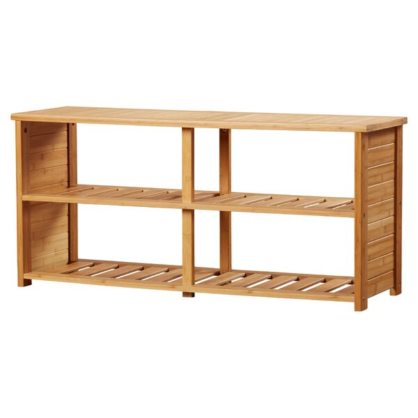 10-Pair Bamboo Shoe Storage Bench by Beachcrest Home Beachcrest Home