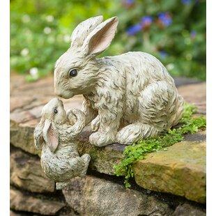 Helping Hand Rabbits Garden Statue
