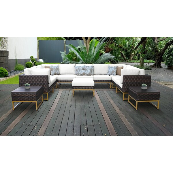 Mcclurg 12 Piece Sectional Seating Group with Cushions by Darby Home Co