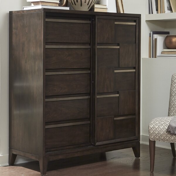 Eggert Wood Sliding Door 6 Drawer Chest by Brayden Studio