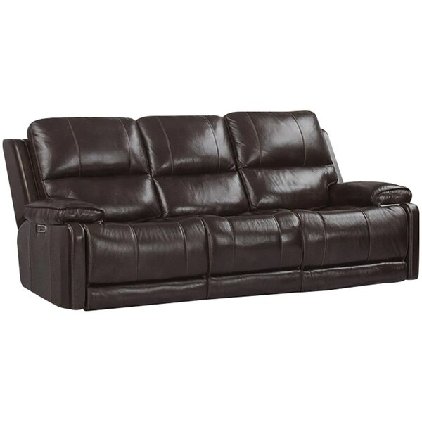 Grantville Leather Reclining Sofa By Red Barrel Studio