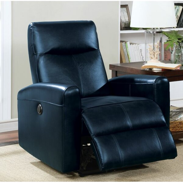 Tindal Motion Genuine Leather Power Recliner by Latitude Run
