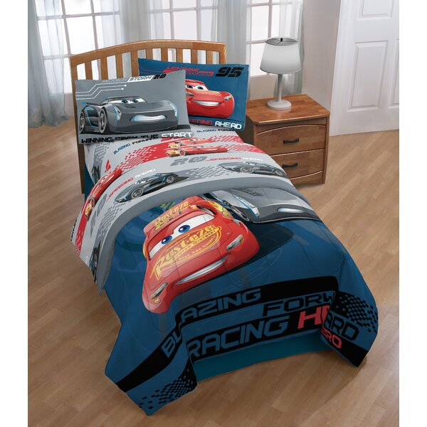 Disney/Pixar Cars 3 Movie Editorial 3 Piece Microfiber Sheet Set by Warner Brothers