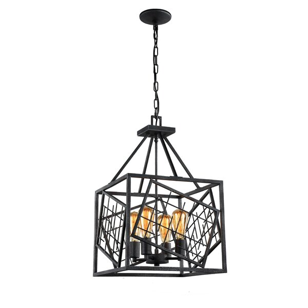 Daria 4 - Light Lantern Rectangle Chandelier by 17 Stories 17 Stories