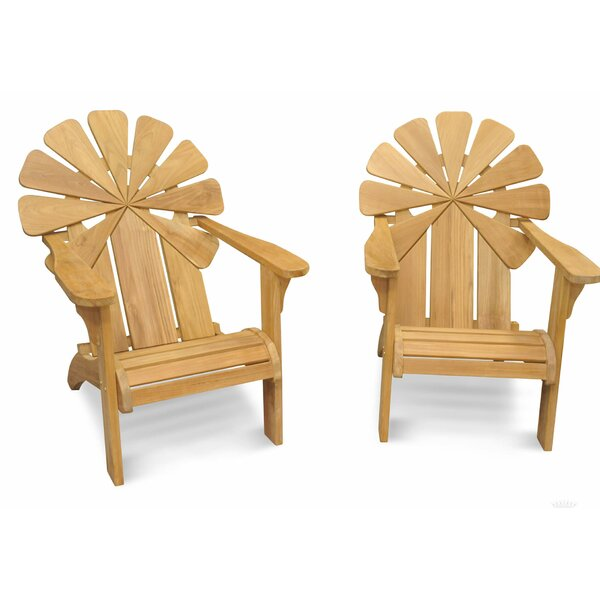Veun Petals Teak Adirondack Chair (Set of 2) by Bay Isle Home Bay Isle Home