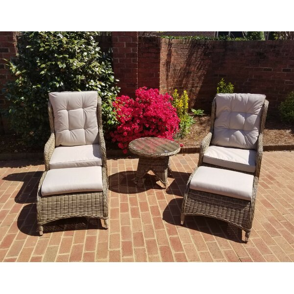 Hallmark 5 Piece Rattan Conversation Set with Cushions by August Grove