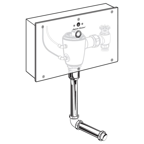 Concealed 0.5 GPF AC Urinal Wrist Blade Flush Valve with Back Spud by American Standard