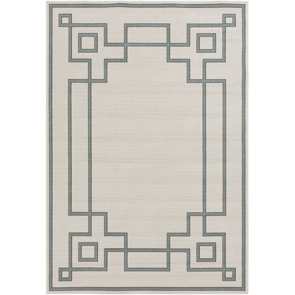 Pearce Machine Woven Beige/Moss Indoor/Outdoor Area Rug by Charlton Home