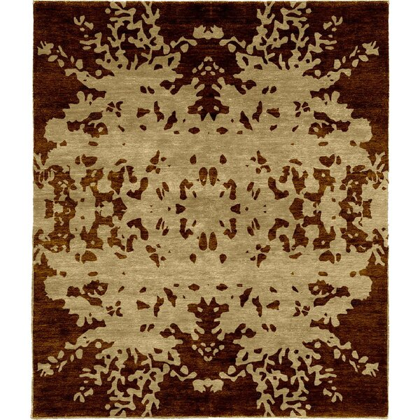 One-of-a-Kind Tokarz Hand-Knotted Tibetan Brown 8' Square Wool Area Rug