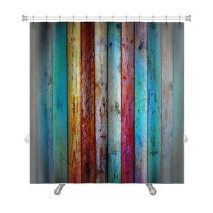 Vintage Wood Premium Shower Curtain ByGear New