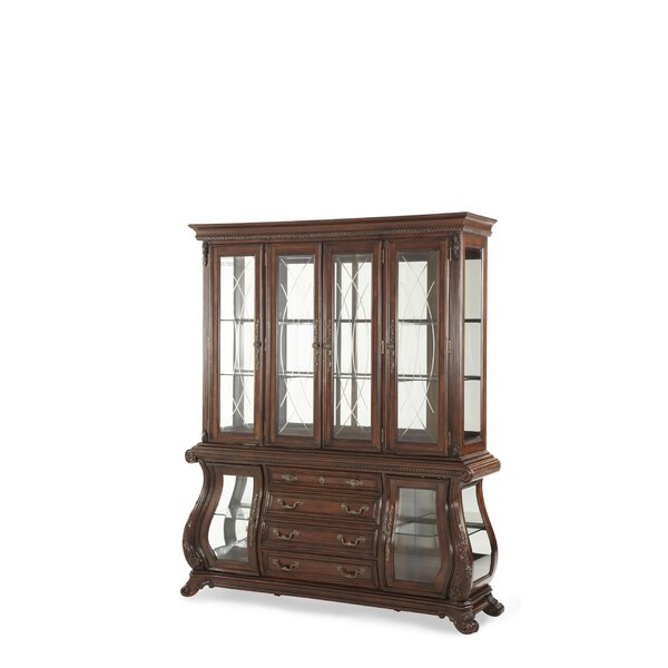 Palace Gates Lighted China Cabinet by Michael Amini