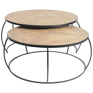 Delisio 2 Piece Coffee Table Set Foundry Select Bargain ...