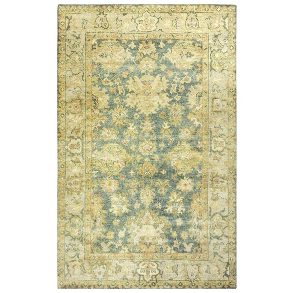 Guadeloupe Hand-Knotted Gray/Beige Area Rug by Meridian Rugmakers