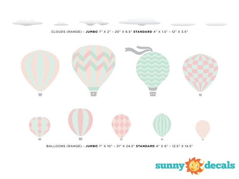 Sunny Decals Hot Air Balloons Fabric Wall Decal Reviews Wayfair