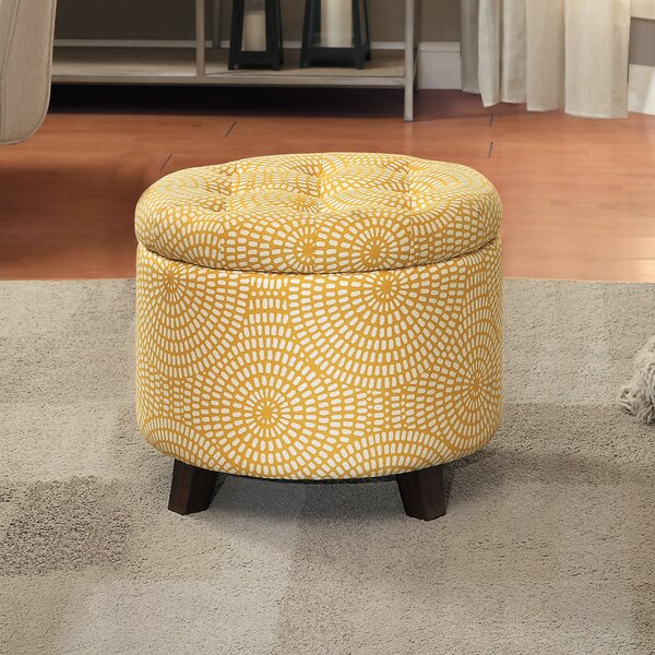 Greenland Tufted Storage Ottoman by House of Hampton