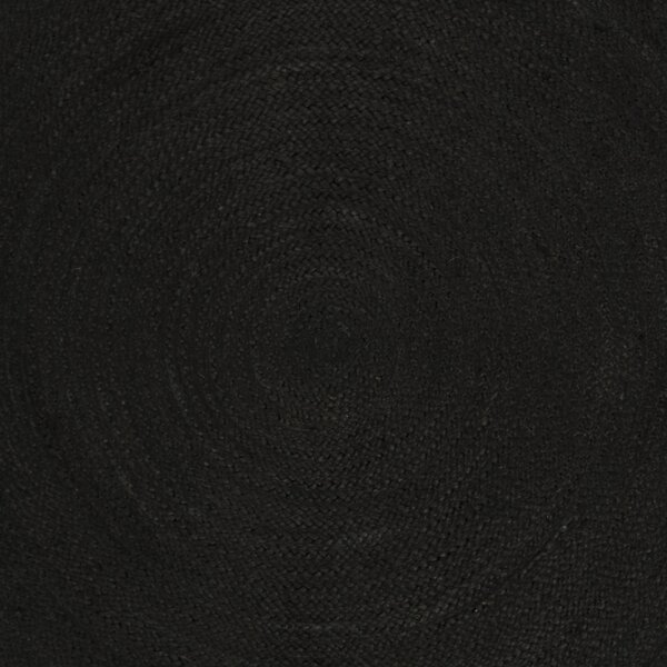 Johna Hand-Woven Black Area Rug by Bungalow Rose