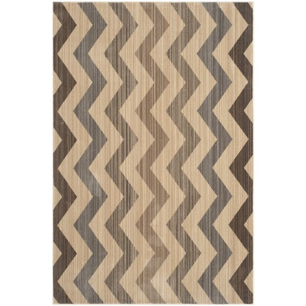 Infinity Chevron Brown/Beige Area Rug by Safavieh