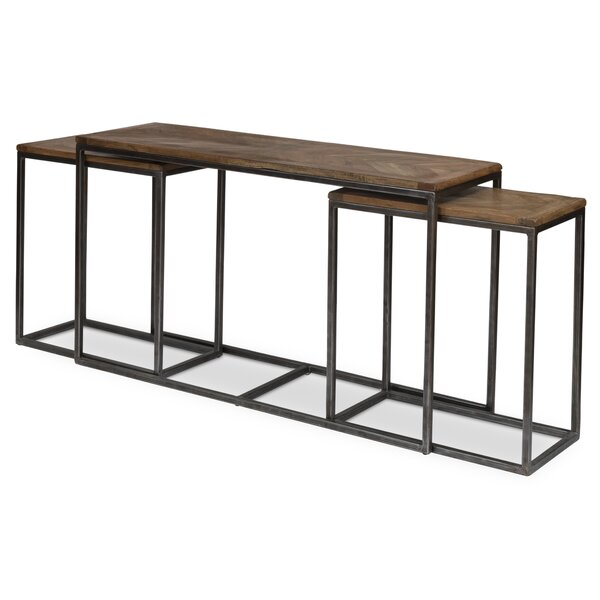 Outdoor Furniture 3 Piece Console Table Set