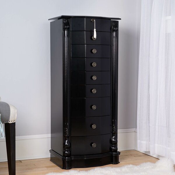 Zakhar Free Standing Jewelry Armoire with Mirror by Darby Home Co