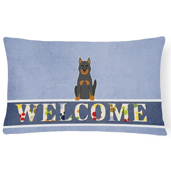 Rebersburg Beauce Shepherd Dog Welcome Lumbar Pillow by Red Barrel Studio