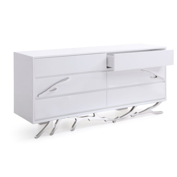 Frisina Modern 6 Drawer Double Dresser By Everly Quinn by Everly Quinn Cheap